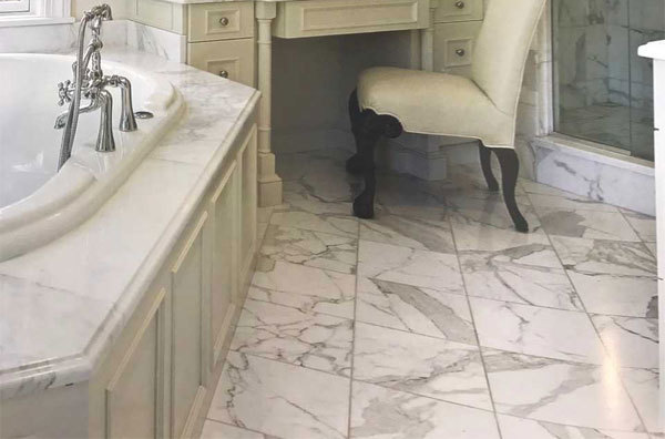 Stone Floor, Walls & Countertops