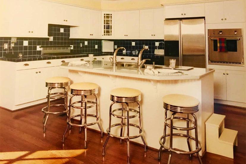 Stylish retro kitchen